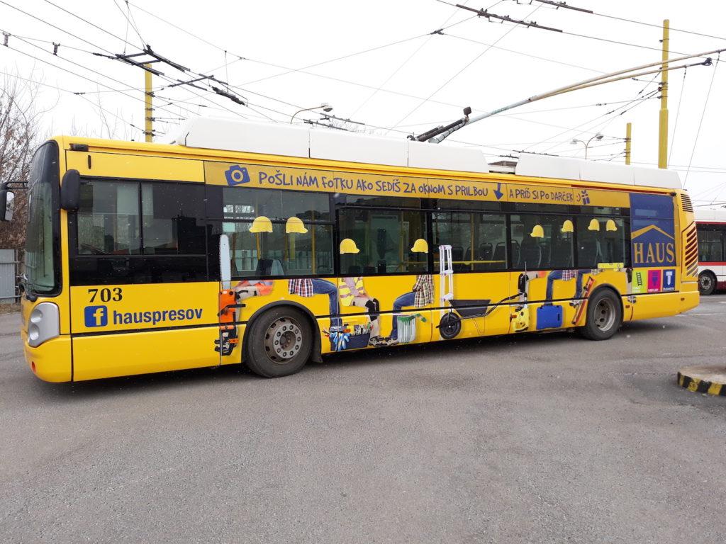 Celopolep Trolejbus HAUS žlutý